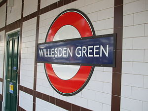 Willesden Green tube station - Image: Willesden Green stn roundel