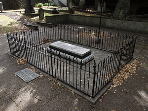 William Hobson - William Hobson's grave at the Symonds Street cemetery, central Auckland.