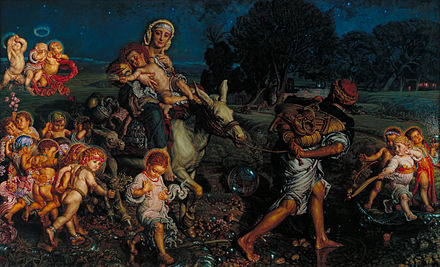 La fugida a Egipte i triomf de els innocents, de William Holman Hunt.