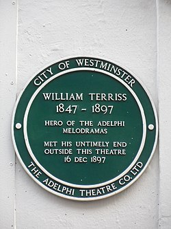 William terriss 1847 1897 green plaque
