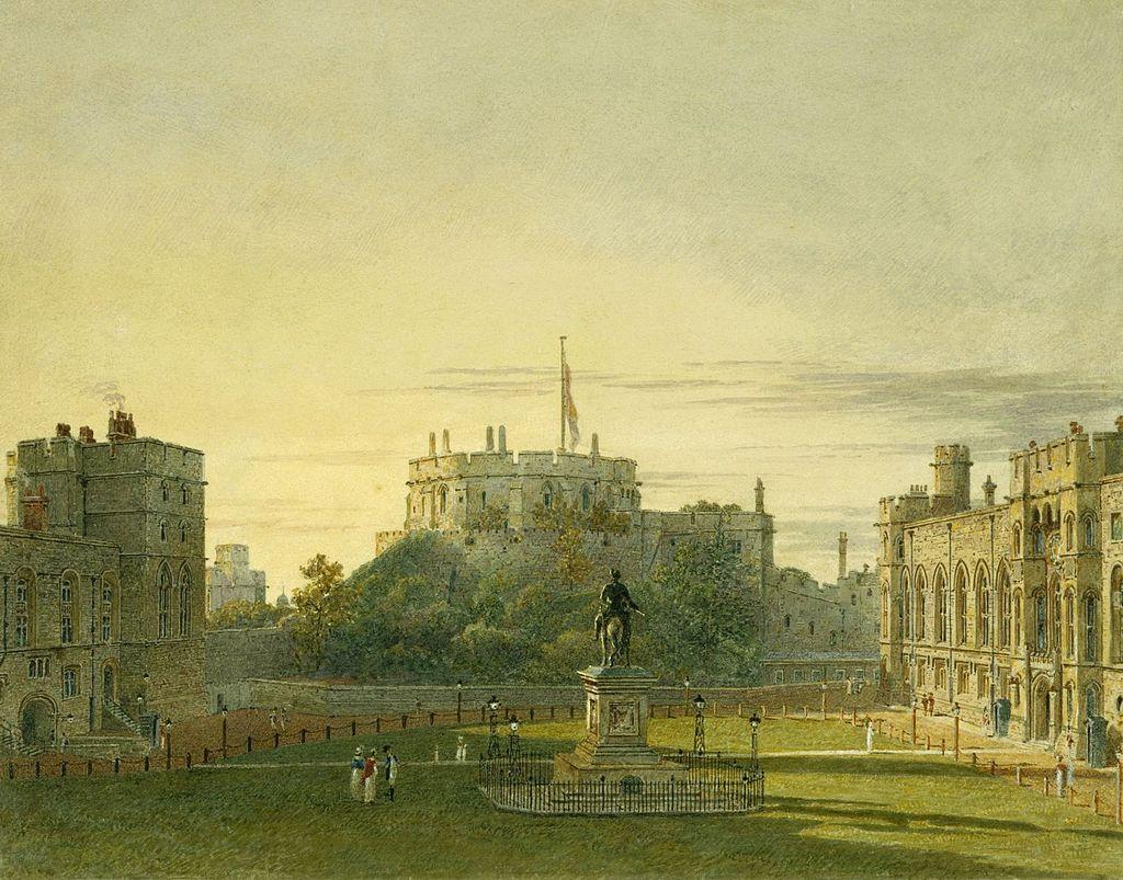 Windsor Castle, Upper Ward, by Charles Wild, 1819 - royal coll 922096 257015 ORI 0.jpg