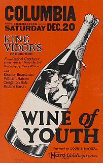 <i>Wine of Youth</i> 1924 film