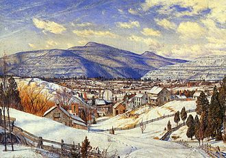 Charles Herbert Moore - Winter Landscape, Valley of the Catskill, 1866, oil on canvas, 18 x 26 cm, Princeton University Art Museum