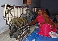 Woman doing a khadi training, Mahatma Gandhi Seva Ashram, Jaura, Madhya Pradesh, India, 2.jpg