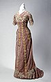 Women's Lavender Velvet Dress With Leaf Design Worn By Lillian Lemp the Lavender Lady.jpg