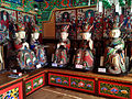 Wooden Ksitigarbha Bodhisattva Triad Statues And Ten Kings Statue at Cheonggoksa 03.JPG