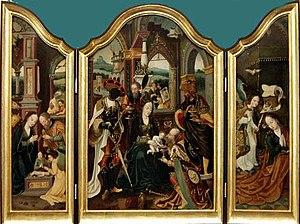 Jan Mertens the Younger - Workshop of Jan Mertens the Younger, triptych of the Adoration of the Magi, 1520-1530