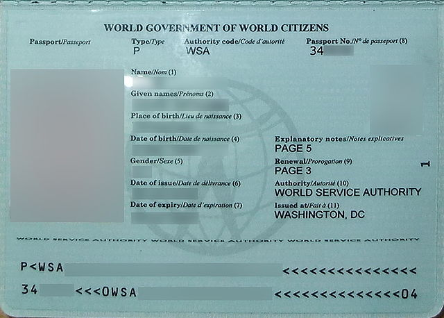 """""""World Passport Data Page"""" by Sakuradate - Own work. Licensed under Public domain via Wikimedia Commons - https://commons.wikimedia.org/wiki/File:World_Passport_Data_Page.jpg#mediaviewer/File:World_Passport_Data_Page.jpg"""