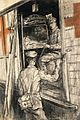 World War I; an ambulance. Chalk drawing. Wellcome V0018174.jpg