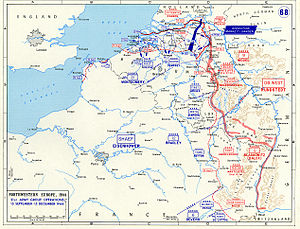 76th Infantry Division (United Kingdom) - The front line, in North West Europe, following Operation Market Garden