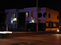 Wynwood Art District Miami Steinbaum gallery at night.jpg