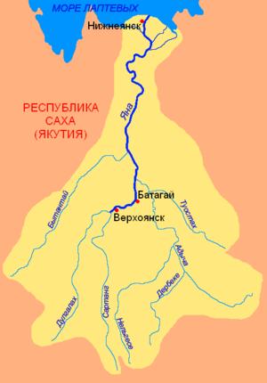 Yana River - Basin of the Yana.
