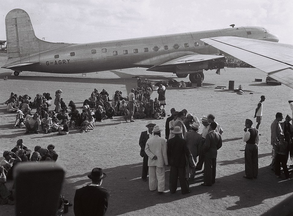 Yemenites at Aden airport