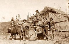 Yermakov. Kobuletian men at Tsikhisdziri (1877-78).JPG