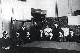 Peter the Great St. Petersburg Polytechnic University - Ioffe's physics seminar at the Polytechnic Institute, among the people in the picture: Yakov Frenkel sits first on the left, next to him Nikolay Semyonov, Abram Ioffe sits in the center, Pyotr Kapitsa is on the left
