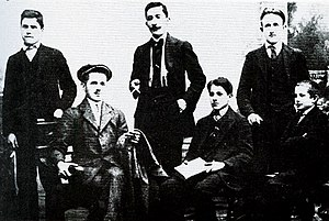 Gavrilo Princip - Young Bosnia members, ca. 1911.