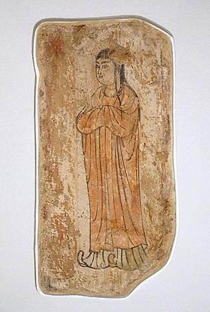 Rabban Bar Sauma - Image: Young man, Khocho, Nestorian Temple, 602 654 AD, wall painting Ethnological Museum, Berlin DSC01740