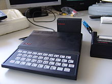 ZX81 computer with a 16 kB RAM pack and a ZX Printer attached.