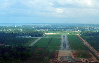 Abeid Amani Karume International Airport - On approach to the airport.