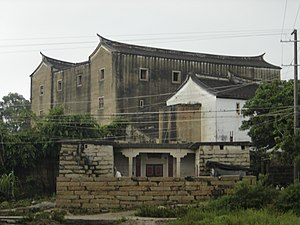 """Zhangpu County - Zhaojiabao (""""Zhao family castle""""), a fortified family residence in Huxi She Autonomous Township"""