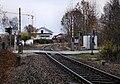 Zugstrecke Ulm–Donaueschingen- bei 86,2 km (bei Scheer)- Bahnübergang- Richtung Ulm 6.11.2010.jpg