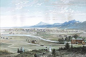 Frederick J. Bancroft - Paul Frenzeny and Jules Tavernier, Denver from the Highlands, 1874