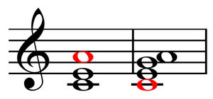 Sixth chord - Image: 'Sixth' chords over C bass