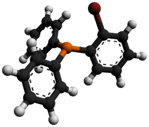 (2-Bromophenyl)diphenylphosphine - Image: (2 Bromophenyl)diphenyl phosphine 3D balls by AHRLS 2012