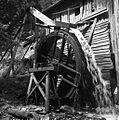 Žaga (zadaj) v grapi na poti od Sv. Vida v Skomarje 1963.jpg
