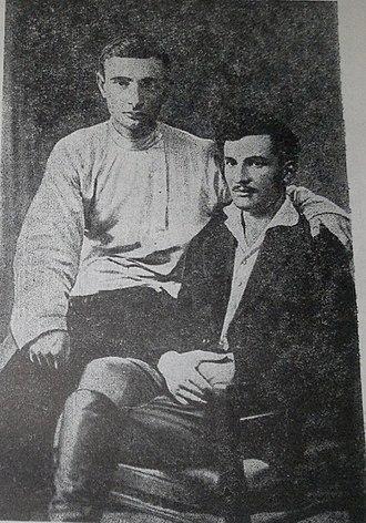 Mirza Davud Huseynov - Huseynov (right) in 1920