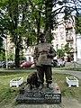 Площадь Ивана Франко. Памятник Гнату Юре в образе солдата Швейка - panoramio.jpg