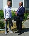 Подсудимый Максим Шибанов и его адвокат в Екатеринбурге 15 июня 2020 года.jpg
