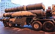 S-400 surface-to-air missile launcher.