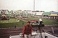 """Підготовка свята """"1100 років Полтаві"""", 1999 р Репетиція свята на стадіоні """"Ворскла"""".jpg"""