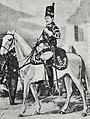 Рисунок к статье «Конно-егеря». Конно-егерский барабанщик, с 1790 по 1796 год. ВЭС (СПб, 1911-1915).jpg