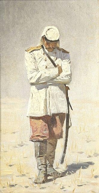 Gymnastyorka - Double breasted general officers model Gimnasterka (kitel) around 1873