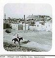 חייל על סוס שחור על רקע המצודה והעיר חאלב Haleb (Aleppo), Syria-1575.jpeg