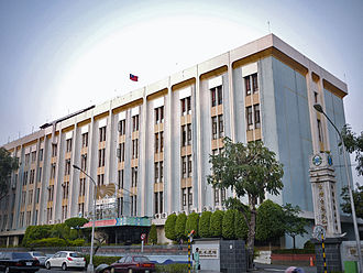 Water supply and sanitation in Taiwan - Taiwan Water Corporation headquarter office in Taichung.