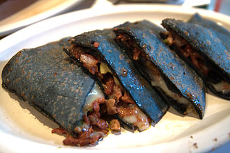 Blue corn - Blue corn quesadillas