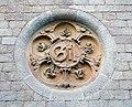 029 Hospital de Sant Pau, edifici d'Administració, c. Sant Antoni M. Claret, medalló de Pau Gil.JPG