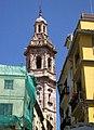 048 Campanar de Santa Caterina, des de la pl. Lope de Vega (València).JPG