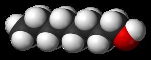 1-Octanol - Image: 1 Octanol 3D vd W