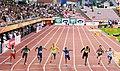 100 metres men final Tampere 2018.jpg