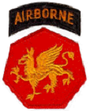 108th Training Command (Initial Entry Training) - Shoulder sleeve insignia of the 108th Airborne Division (1946–1952).