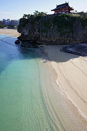 Naminoue Shrine - Image: 111204 Naminoue Beach and Naminoue gu Naha Okinawa pref Japan 01bs