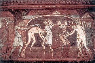 Abbey Church of Saint-Savin-sur-Gartempe - Image: 11th century unknown painters Sts Savinus and Cyprian are tortured WGA19709