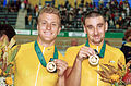 141100 - Cycling track Darren Harry Paul Clohessy gold medals - 3b - 2000 Sydney medal photo.jpg