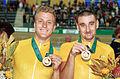 141100 - Cycling track Darren Harry Paul Clohessy gold medals - 3b - 2000 Sydney medal photo.jpg