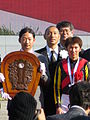 147th Tennosho spring (22 Ceremony 08 Ebizo Ichikawa and Masayoshi Ebina 03) IMG 2667 20130428.JPG