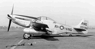 Rhode Island Air National Guard - F-51D Mustang assigned to the Rhode Island ANG 152d Fighter Squadron, 1954